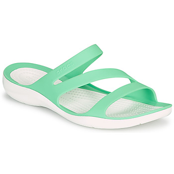 Shoes Women Sandals Crocs SWIFTWATER SANDAL W Green / White