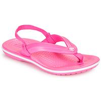 Shoes Girl Flip flops Crocs CROCBAND STRAP FLIP K Pink