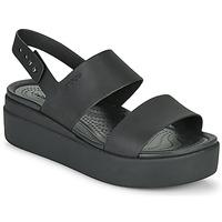 Shoes Women Sandals Crocs CROCS BROOKLYN LOW WEDGE W Black