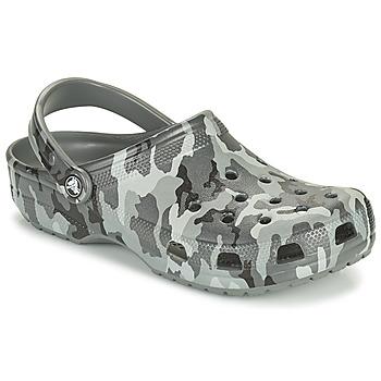Shoes Men Clogs Crocs CLASSIC PRINTED CAMO CLOG Camouflage / Grey