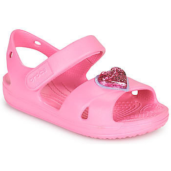 Shoes Girl Sandals Crocs CLASSICCROSSSTRAPCHARMSANDAL T Pink