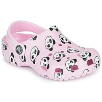 Shoes Girl Clogs Crocs CLASSIC PANDA PRINT CLOG K Pink / Panda