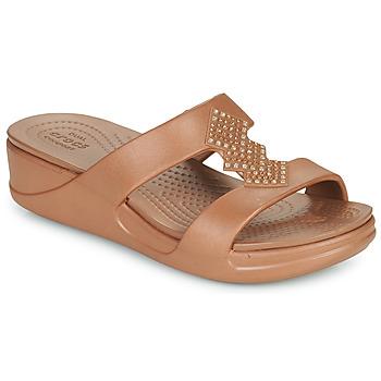 Shoes Women Mules Crocs CROCSMONTEREYSHIMMERSLPONWDG W Bronze