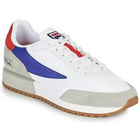 Shoes Men Low top trainers Fila RETRONIQUE White / Blue / Red