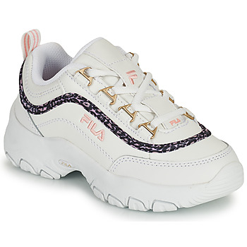 Shoes Girl Low top trainers Fila STRADA A LOW JR White / Beige