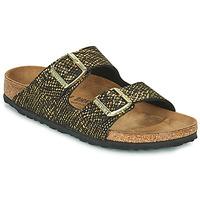 Shoes Women Mules Birkenstock ARIZONA Black / Gold