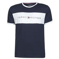 material Men short-sleeved t-shirts Tommy Hilfiger CN SS TEE LOGO FLAG Marine / White