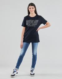 material Women Skinny jeans Replay HYPERFLEX LUZ Blue / Medium