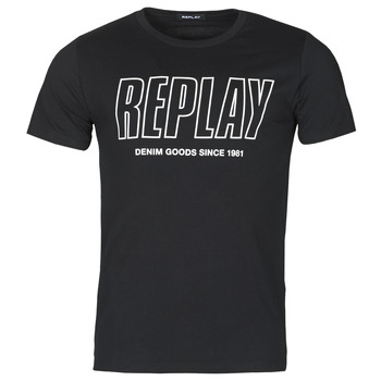 material Men short-sleeved t-shirts Replay M3395-2660 Black