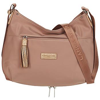 Bags Women Shoulder bags LANCASTER BASIC POMPON 38 Beige
