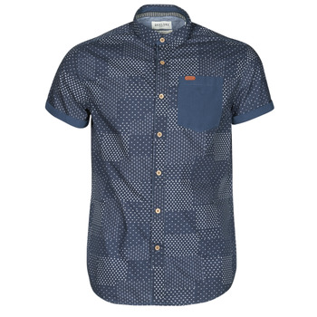 material Men short-sleeved shirts Deeluxe ETHNIC Marine