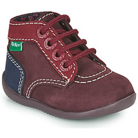 Shoes Girl Mid boots Kickers BONBON-2 Violet / Red / Marine