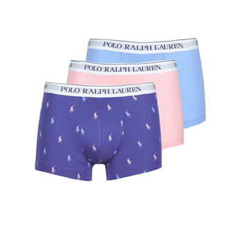 Underwear Men Boxer shorts Polo Ralph Lauren CLASSIC TRUNK X3 Pink / Blue / Marine