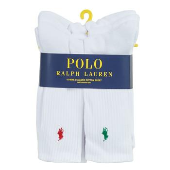 Underwear Men Sports socks Polo Ralph Lauren ASX110 6 PACK COTTON White