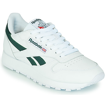 Shoes Low top trainers Reebok Classic CL LTHR White / Green