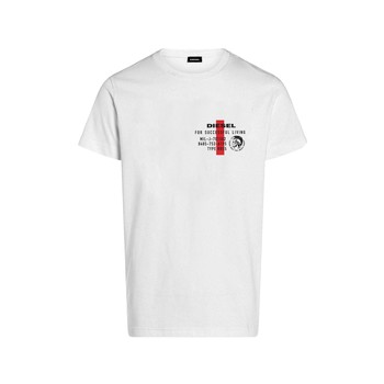 material Boy short-sleeved t-shirts Diesel TDIEGOS White