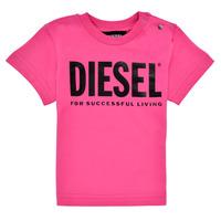 material Girl short-sleeved t-shirts Diesel TJUSTLOGOB Pink