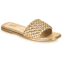 Shoes Women Mules MICHAEL Michael Kors AMELIA FLAT SANDAL Gold