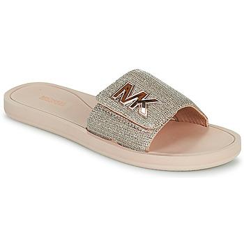 Shoes Women Sliders MICHAEL Michael Kors MK SLIDE Pink / Nude / Gold