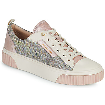 Shoes Women Low top trainers MICHAEL Michael Kors OSCAR LACE UP Beige / Pink / Pink / Gold