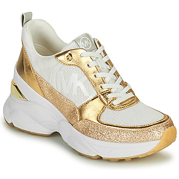 Shoes Women Low top trainers MICHAEL Michael Kors MICKEY TRAINER White / Gold