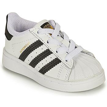 Shoes Children Low top trainers adidas Originals SUPERSTAR EL I White / Black
