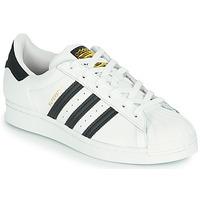Shoes Children Low top trainers adidas Originals SUPERSTAR J White / Black