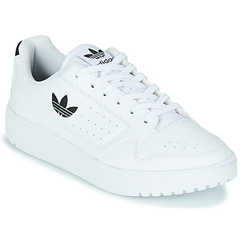 Shoes Children Low top trainers adidas Originals NY 92 J White / Black