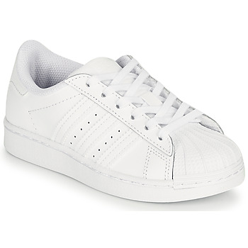 Shoes Children Low top trainers adidas Originals SUPERSTAR C White