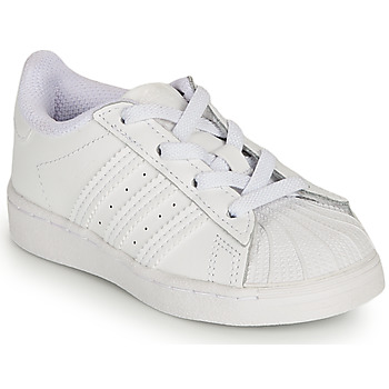 Shoes Girl Low top trainers adidas Originals SUPERSTAR EL I White / Iridescent