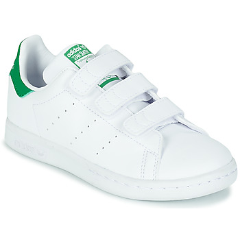 Shoes Children Low top trainers adidas Originals STAN SMITH CF C SUSTAINABLE White / Green