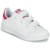 Shoes Girl Low top trainers adidas Originals STAN SMITH CF C SUSTAINABLE White / Pink