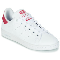 Shoes Girl Low top trainers adidas Originals STAN SMITH J SUSTAINABLE White / Pink