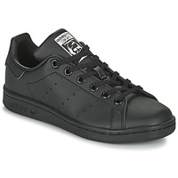 Shoes Children Low top trainers adidas Originals STAN SMITH J SUSTAINABLE Black