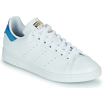 Shoes Women Low top trainers adidas Originals STAN SMITH W SUSTAINABLE White / Blue / Graphic
