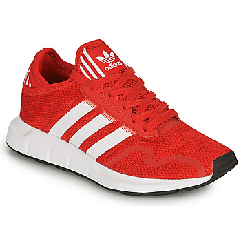 Shoes Children Low top trainers adidas Originals SWIFT RUN X J Red