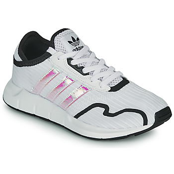 Shoes Girl Low top trainers adidas Originals SWIFT RUN X J White / Iridescent