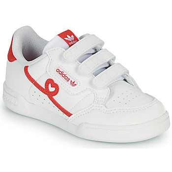 Shoes Girl Low top trainers adidas Originals CONTINENTAL 80 CF I White / Red