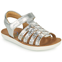 Shoes Girl Sandals Shoo Pom GOA SPART Silver