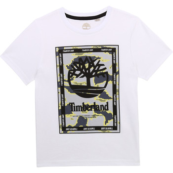 material Boy short-sleeved t-shirts Timberland FOUND White