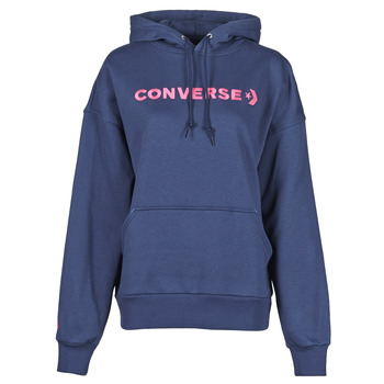 material Women sweaters Converse EMBROIDERED WORDMARK HOODIE Blue