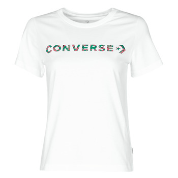 material Women short-sleeved t-shirts Converse CENTER FRONT ICON CLASSIC TEE White