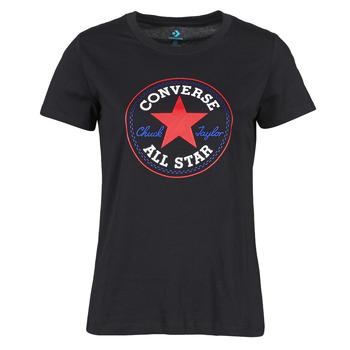material Women short-sleeved t-shirts Converse CHUCK PATCH NOVA TEE Black