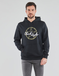 material Men sweaters Converse DECONSTRUCTED CHUCK PATCH PULLOVER HOODIE Black