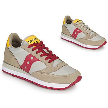 Shoes Women Low top trainers Saucony JAZZ ORIGINAL Beige / Red