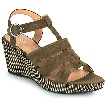 Shoes Women Sandals Adige FLORY V5 VELOURS MILITAIRE Kaki
