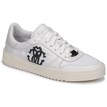 Shoes Men Low top trainers Roberto Cavalli GEL White
