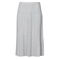 material Women Skirts MICHAEL Michael Kors MIDC PLEAT SWTR SKIRT Grey
