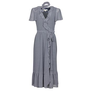 material Women Long Dresses MICHAEL Michael Kors MINI BICOLR 60S FLRL DRS Blue