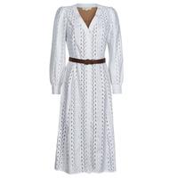material Women Long Dresses MICHAEL Michael Kors ROPE STRIPES HEMP DS White